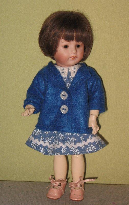 """La petite veste """"Bourrasque"""" et robe """"Basque"""" pour Loulotte"""