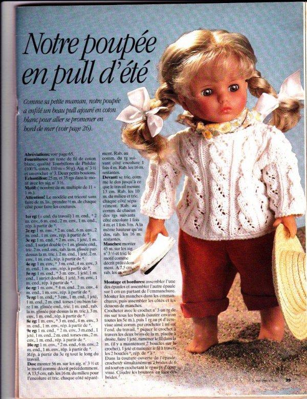 Pour les tricoteuses, un joli pull pour TATIANA