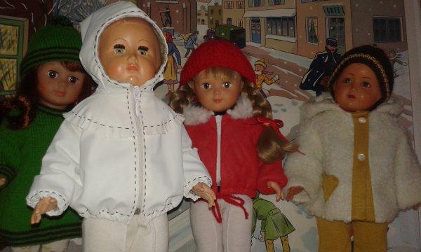 Les enfants sont prêts ... Bonnets et capuches sont au rendez-vous !