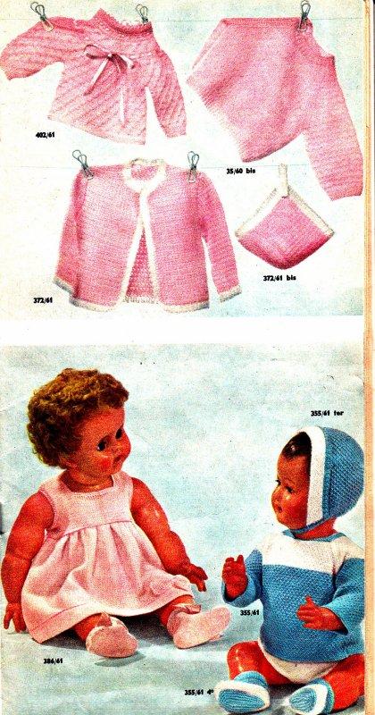 Un peu de tricot pour bébés et poupons 1962