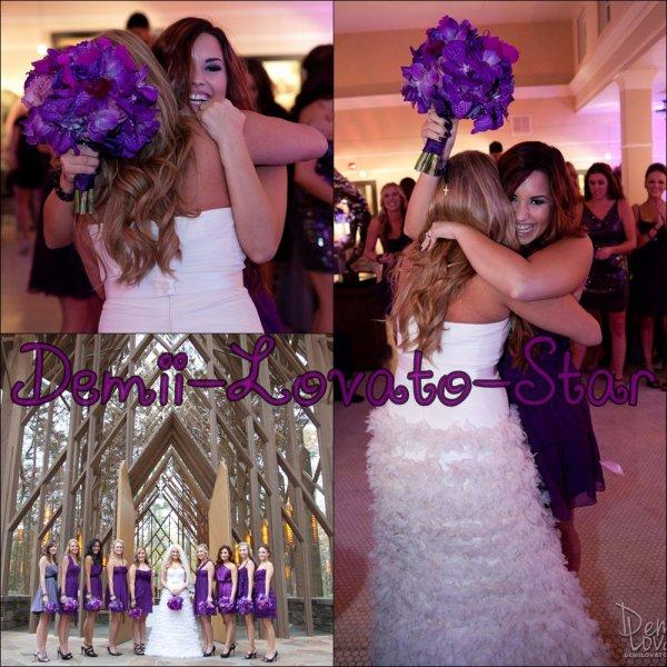 le Samedi 12 Novembre Demi assisté au mariage de Tiffany Thornton & Christopher Carney  à la chapelle Anthony au Garvan Woodland Gardens à Hot Springs, Arkansas.