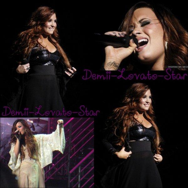 """16 novembre 2011 : Demi effectuées sur la soirée d'ouverture de son """" une soirée spéciale avec Demi Lovato """"tournée au Fox Theater  à Detroit, Michigan."""