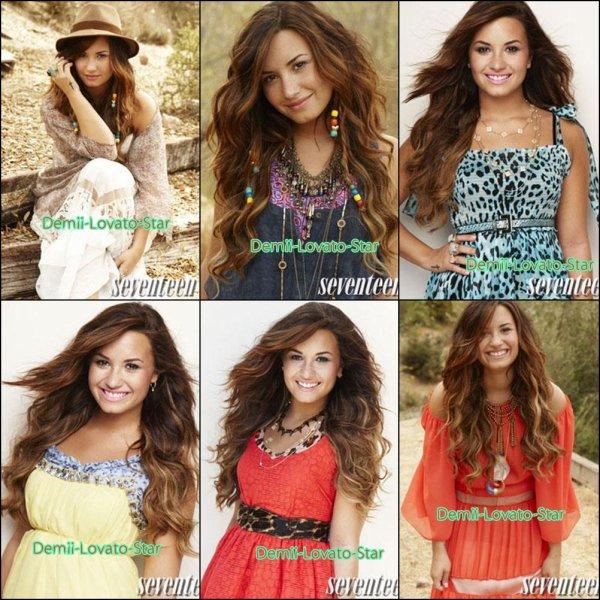 Photoshoot Du magazine Seventeen Où Demi Fait la couverture . + Demi Signe des autographe le 4 Janvier, 2012 à Glendale en Californie.