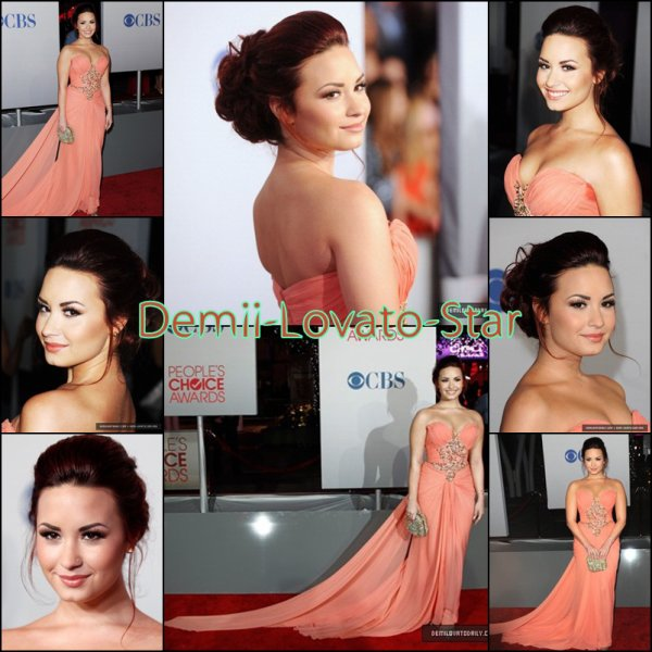 Demi était au People's Choice Awards 2012 le 11 Janvier à Los Angeles en Californie.