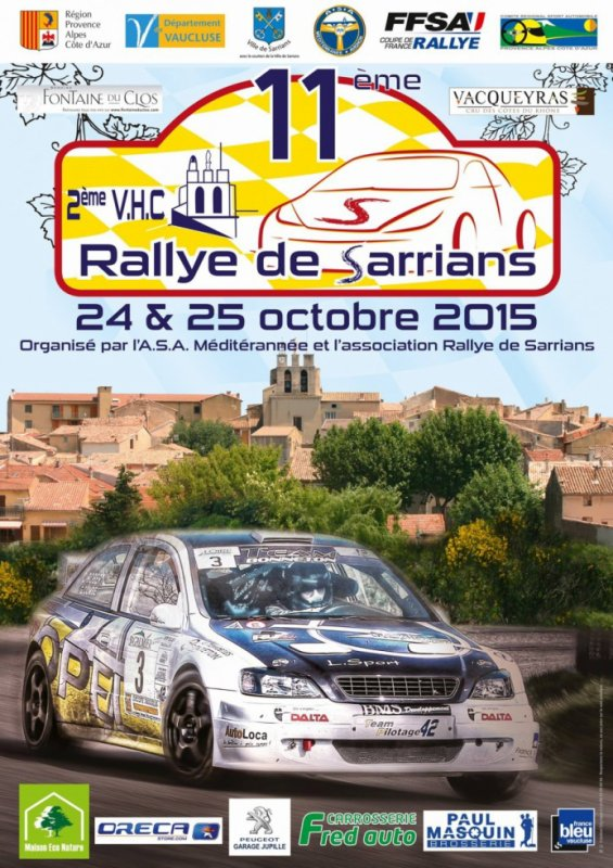 Rallye de Sarrians 2015 - Affiche + photos prépération