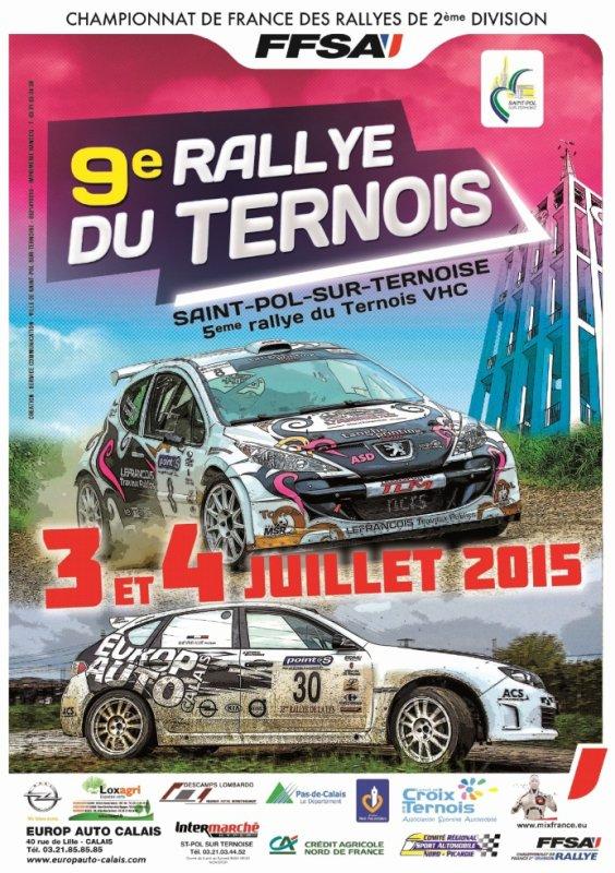 Rallye du Ternois 2015 - L'affiche + Photos
