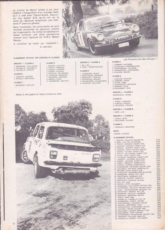 R5 Gr2 Belgique - Photo, classement, liste des engagés