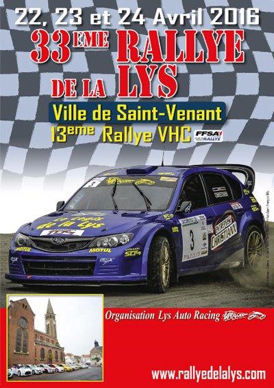 Rallye de la Lys 2016 - L'affiche + photos