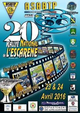 Rallye de l'Escarène 2016 - L'affiche + classement + vidéos