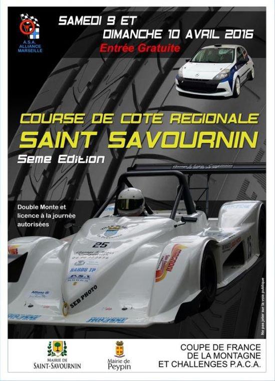 Course de Côte de St Savournin 2016 - L'affiche + photos