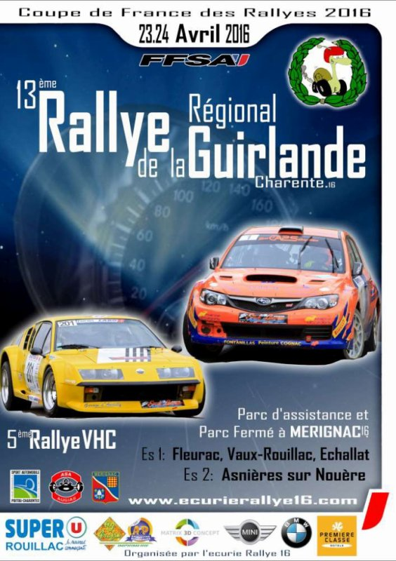Rallye de la Guirlande 2016 - L'affiche + photos