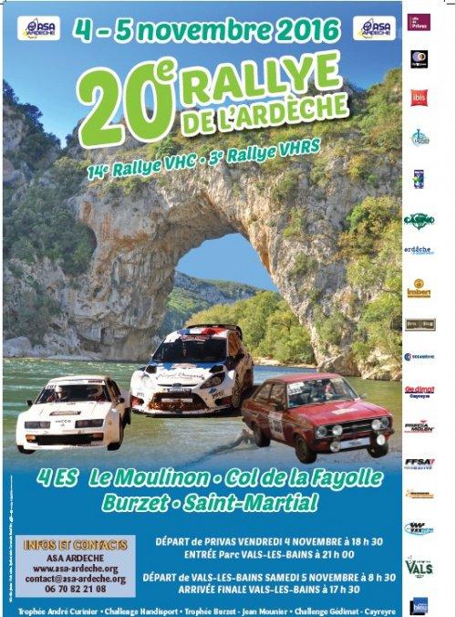 Rallye de l'Ardèche 2016 - L'affiche et les photos