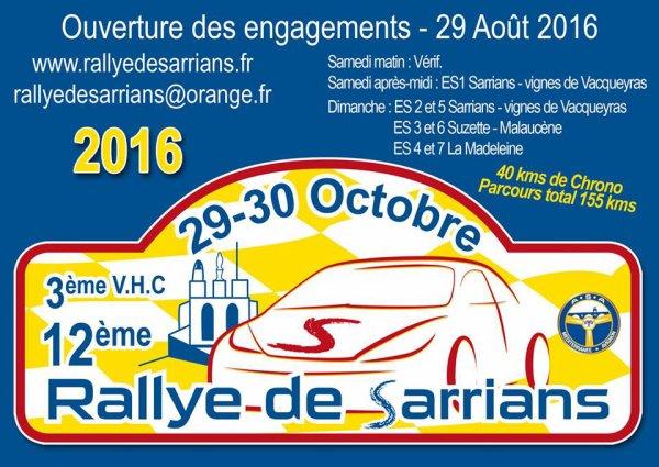 Rallye de Sarrians 2016 - Vidéo