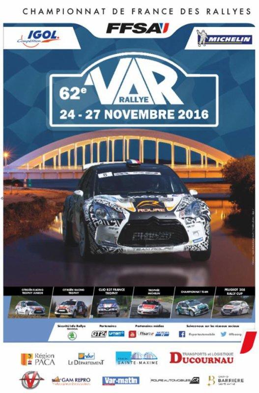 Rallye du VAR 2016 - Affiche, photos et vidéo