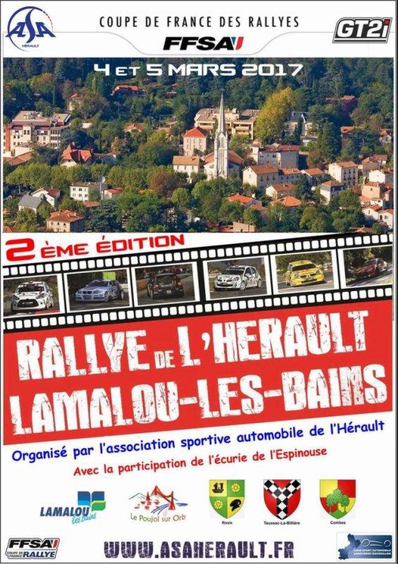 Rallye de l'Hérault 2017 - L'affiche et les photos