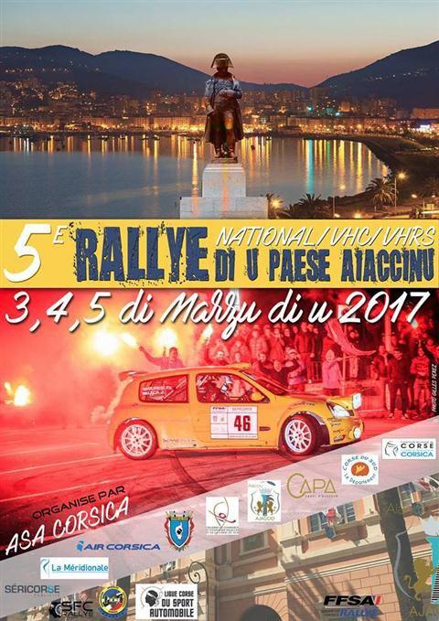 Rallye du Pays Ajaccien 2017 - L'affiche + photos