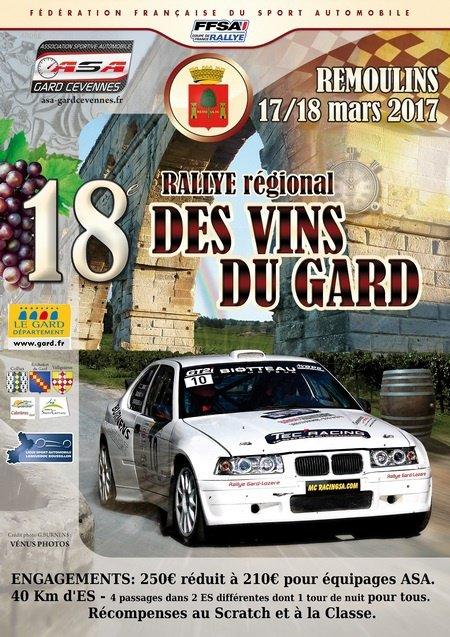 Rallye des Vins du Gard 2017 - L'affiche et les photos ...