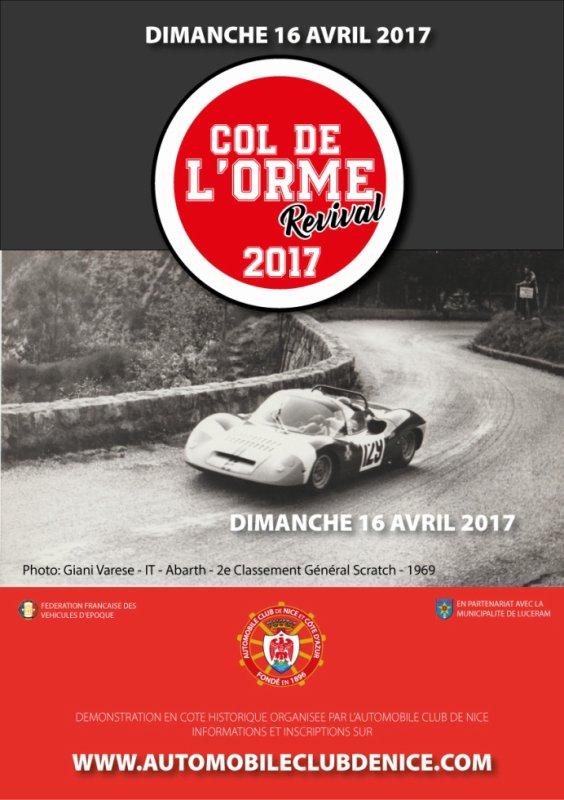 MH du Col de l'Orme 2017 - L'affiche + photos + Vidéo