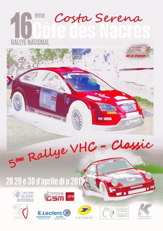 Rallye Costa Serena 2017 - L'affiche + photos + vidéos