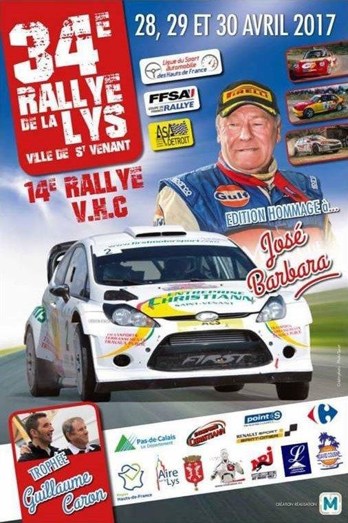 Rallye de la Lys 2017 - L'affiche + photos