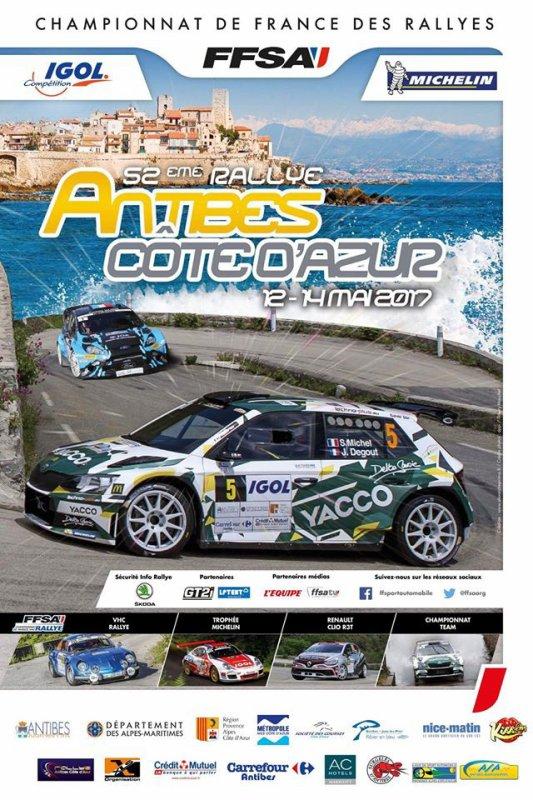 Rallye d'Antibes 2017 - L'affiche + photos+ classement + vidéo
