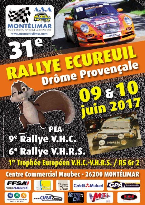 Rallye de l'Ecureuil 2017 - L'affiche et les photos