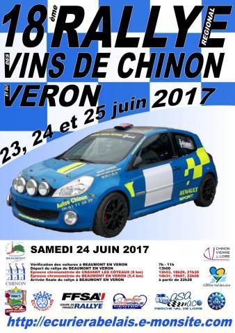 Rallye des Vins de Chinon 2017 - L'affiche et les photos