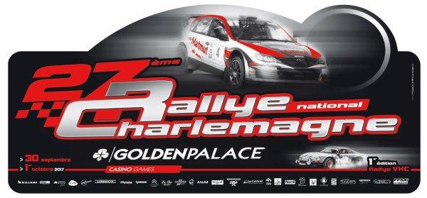 Rallye Charlemagne 2017 - L'affiche et les photos
