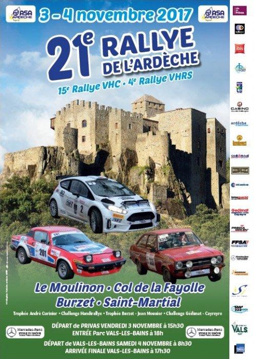 Rallye de l'Ardèche 2017 - L'affiche et les photos