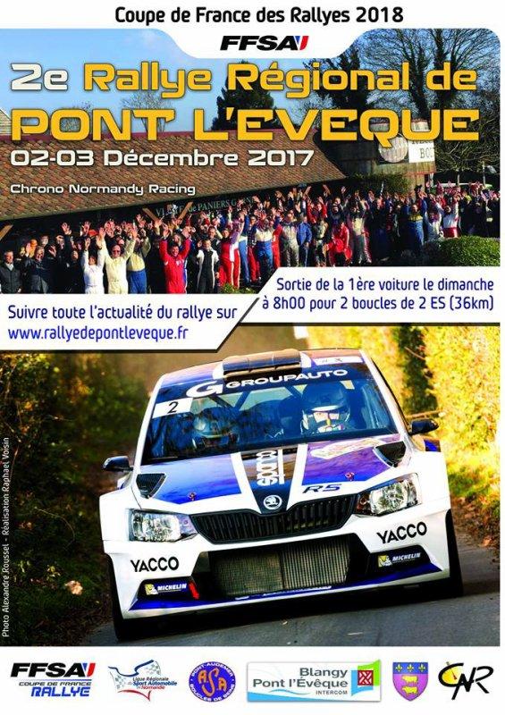 Rallye de Pont l'Eveque 2017 - L'affiche et les photos