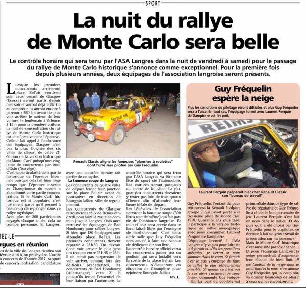 Article sur le Monte Carlo Historique 2018