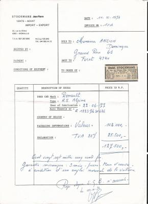 L 39 achat renault 5 alpine gr2 - Achat internet belgique ...