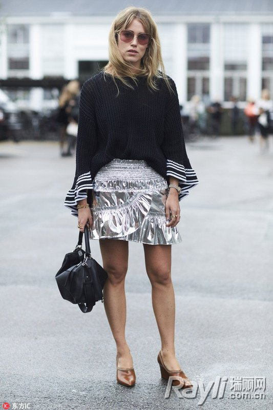Metallic color is still hot this fall