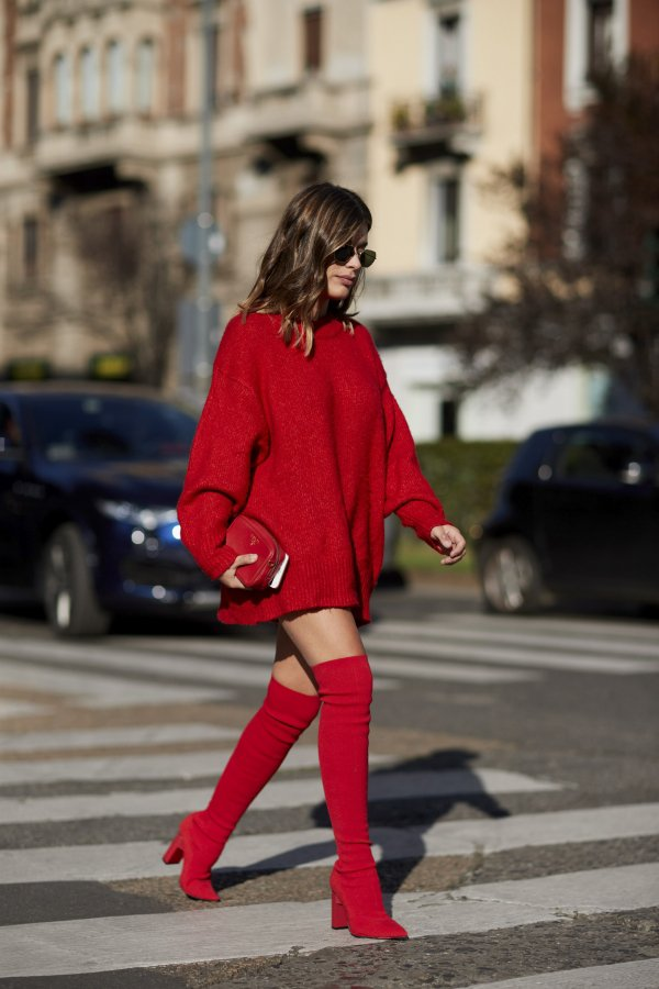 Red sweater, dazzling single product