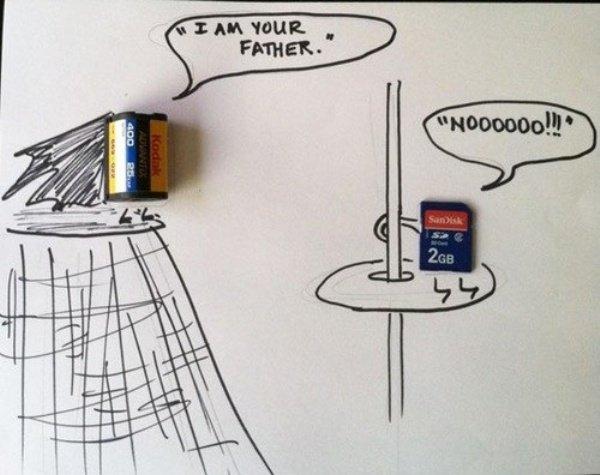 La carte SD et son ancêtre...