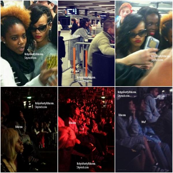 Le 30 Novembre ~ Rihanna assistant au concert Chris Brown et voyageant dans la ville de Bâle, Suisse.