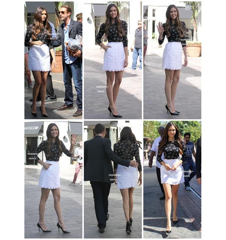 • Nina se rendant sur le plateau de l'émission Extra à Los Angeles