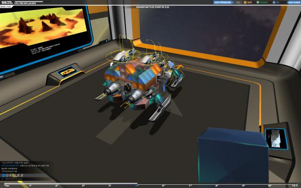 Robocraft, mon garage.