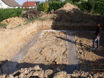 Le 11 septembre 2010 début des fondations