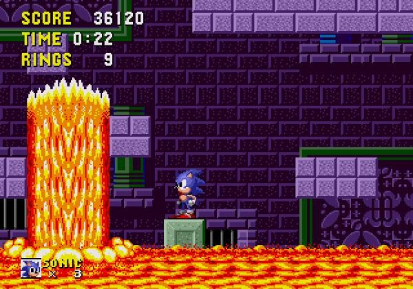 Sonic The Hedgehog - Marble Zone (Zone De Marbre)