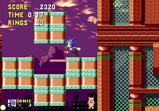 Sonic The Hedgehog - Spring Yard Zone (Zone De La Cour A Ressort)
