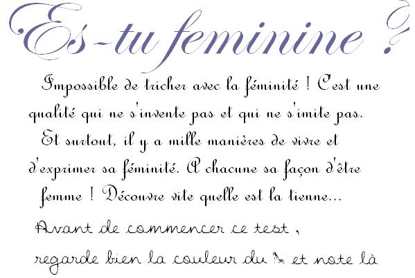 Test ~ Es-tu féminine ?