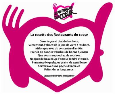 La recette des Restaurants du coeur
