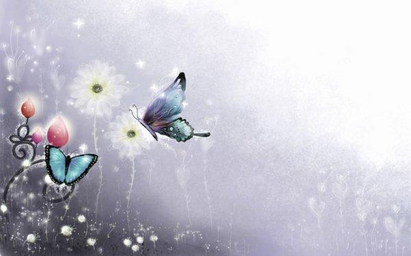 Un Monde bordé de magie et de papillons..