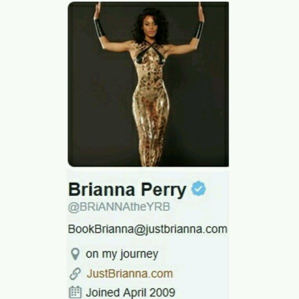 "Brianna Perry On the hit TV show Sisterhood of Hip Hop & signed to Missy Elliott's Label ""The Gold Mind Inc."" Brianna...Thx 4 the Support!!"
