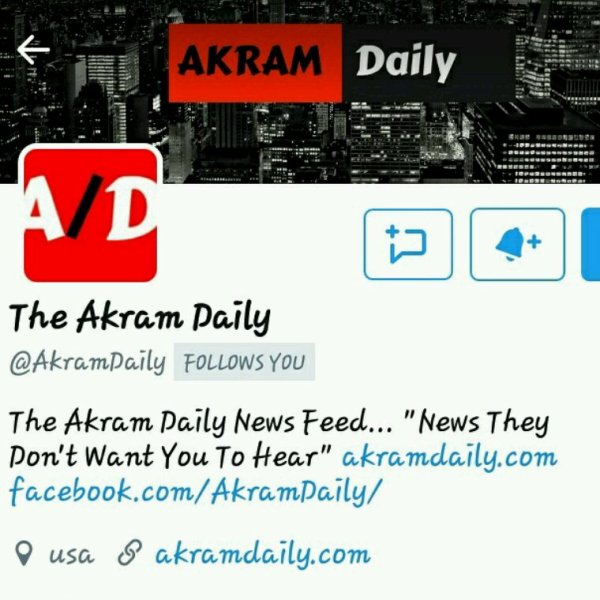 Shout out.... Akram Daily News  Thx 4 Supporting!! @YoungGifted3000  #News  #Media