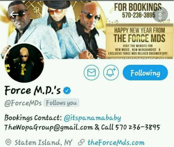 The Legendary Force M.D.'s  True Pioneers in tha game!!  Thx 4 tha support... #Collab  #YouNeverKnow  #HugeThingsToCome2017 @YoungGifted3000