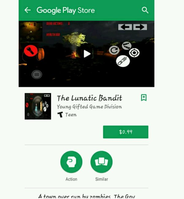 Available On The Google Play Store... The Lunatic Bandit Video Game App By: Young Gifted Game Division Download Your App Today!!