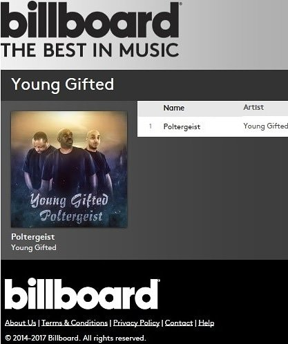 BILLBOARD MUSIC  POLTERGEIST BY YOUNG GIFTED