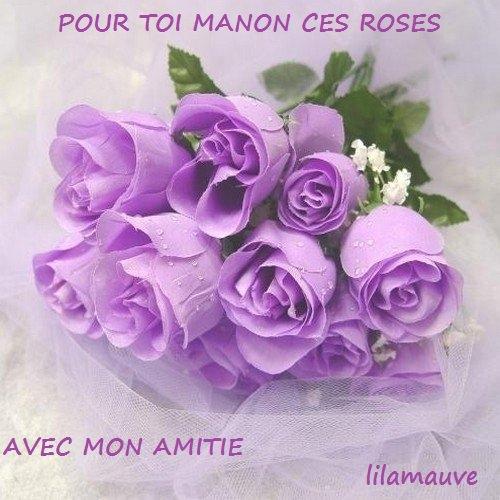 UN  GRAND   MERCI  A  MA  CHERE  AMIE  FANNY  !!!!!  POUR  CE  MAGNIFIQUE  CADEAU  !!!!  EN  MAUVE  ...ET  AVEC  DES  ROSES  !!!!  ET  LA  LAVANDE  QUE  J' ADORE  !!!!!!  BISOUS  DE   MANON .....